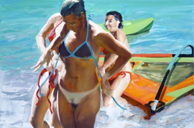 """Beautiful Day"" by Eric Fischl, 2006. Oil on linen, 53 x 78 inches. Collection of Mr. and Mrs. Zeckendorf."